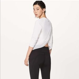 Lululemon Quick Pace Long Sleeve Shirt White Sz 6